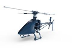 Hubschrauber des Spielzeugs 3D blau gemalt Stockfotografie