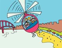 Hubschrauber-Fahrt Stockbild
