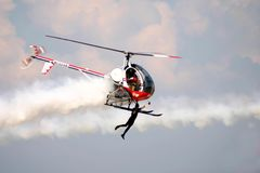 Hubschrauber-Flieger lizenzfreie stockfotos