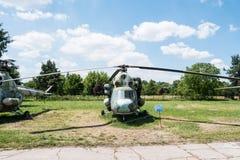 Hubschrauber im Luftfahrt-Museum von Krakau lizenzfreie stockfotos