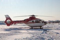 Hubschrauber im Winter Stockfoto