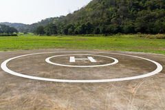 Hubschrauber-Landeplatz Stockfotografie
