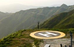 Hubschrauber-Landeplatz Stockbild