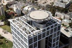 Hubschrauber-Landeplatz auf dem Dach Stockbilder