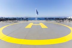 Hubschrauber-Landeplatz auf einem Schiff lizenzfreies stockfoto