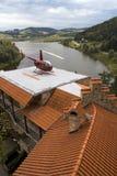 Hubschrauber-Landeplatz im Gebirgszustand Stockbilder