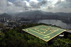 Hubschrauber-Landeplatz in Rio de Janeiro Stockfotografie