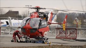 Hubschrauber Manteinance stock video