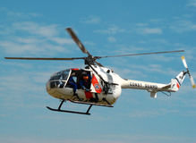 Hubschrauber MBB-BO 105 Lizenzfreies Stockfoto