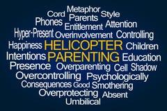 Hubschrauber Parenting-Wort-Wolke Stockfoto