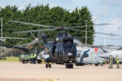 Hubschrauber Royal Air Forces RAF Aerospatiale SA-330E Puma-HC2 bei RAF Waddington Stockbild