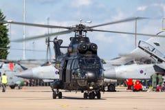 Hubschrauber Royal Air Forces RAF Aerospatiale SA-330E Puma-HC2 bei RAF Waddington Lizenzfreie Stockfotos