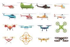 Hubschrauber und Brummen-Satz vektor abbildung