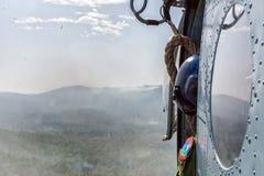Hubschrauber- und Mannschaftsleiter Stockbild