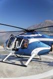 Hubschrauber-Zerhackerauszugshubschrauber-landeplatz lizenzfreie stockfotos