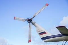 Hubschrauber zerteilt Propeller Russeluftfahrt Lizenzfreies Stockbild