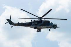 Hubschrauberangriff Mil Mi-24 Hinter Lizenzfreies Stockbild