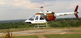 Hubschrauberausflug Stockfotos