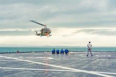 Hubschrauberlandung Stockfotos