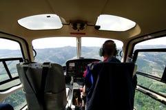 Hubschrauberpilot Stockbild