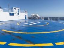 Hubschrauberrettungs-Landebereichschiff Stockbilder