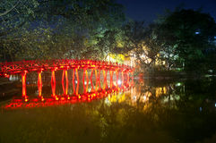 Huc Bridge Hanoi Stock Photography