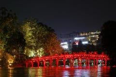 The Huc Bridge in Hanoi Stock Image