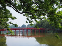 Vietnam Travel TheHuc Bridge Stock Images