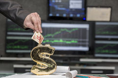 Hucha del dólar Imagen de archivo libre de regalías