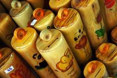 Hucha hecha de bambú Fotos de archivo