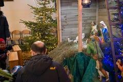 Huche de Noël Image libre de droits