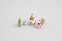 Huche de Noël Adoration des trois sages Chéri Jésus Images stock