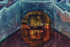 Huche de Noël sous le pont antique Images stock