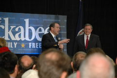 Huckabee and Hunter at Rally Stock Photos