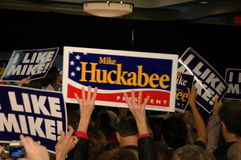 Huckabee Rally Royalty Free Stock Photography
