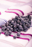 Huckleberries. The huckleberries on the towel, a close up shoot Stock Images