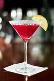 Huckleberry lemon drop martini Stock Photo