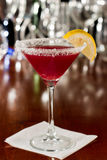 Huckleberry lemon drop martini Stock Photos
