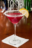 Huckleberry lemon drop martini Royalty Free Stock Photos