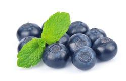 Huckleberry with mint Stock Photos