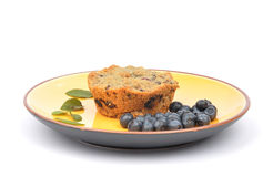 Huckleberry muffin Royalty Free Stock Photo