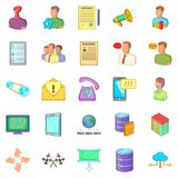 Huckster icons set, cartoon style Royalty Free Stock Images