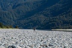 Huczenia Billy spadków ślad, Lokalizować w Mt Aspiruje parka narodowego, Nowy Zealan zdjęcie royalty free