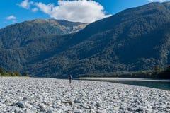 Huczenia Billy spadków ślad, Lokalizować w Mt Aspiruje parka narodowego, Nowy Zealan obrazy royalty free