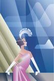 Huczenia 20s plakat z podlotka dnia niebem Fotografia Stock