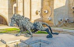Huczenie lew Obraz Stock