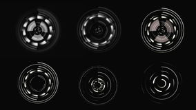 HUD Φουτουριστικό ενδιάμεσο με τον χρήστη Κυκλικά στοιχεία επίδειξης sci-Fi φιλμ μικρού μήκους