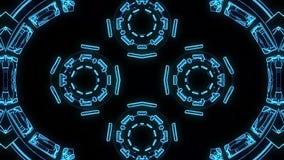 HUD χρωματίζει τη διακοσμητική νέα ποιότητα βρόχων υποβάθρου ζωτικότητας σχεδίων καλειδοσκόπιων εθνική φυλετική psychedelic ολογρ ελεύθερη απεικόνιση δικαιώματος