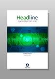 HUD-Abdeckungsdesign mit futuristischem Internet-Technologiehintergrund Lizenzfreie Stockfotos