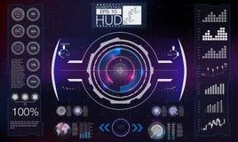 HUD abstrait Ensemble moderne futuriste d'interface utilisateurs de Sci fi illustration de vecteur